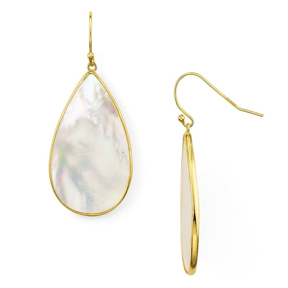 17ba07371 Argento Vivo Jewelry | Mother Of Pearl 18 Ct Gold Plated Earrings ...